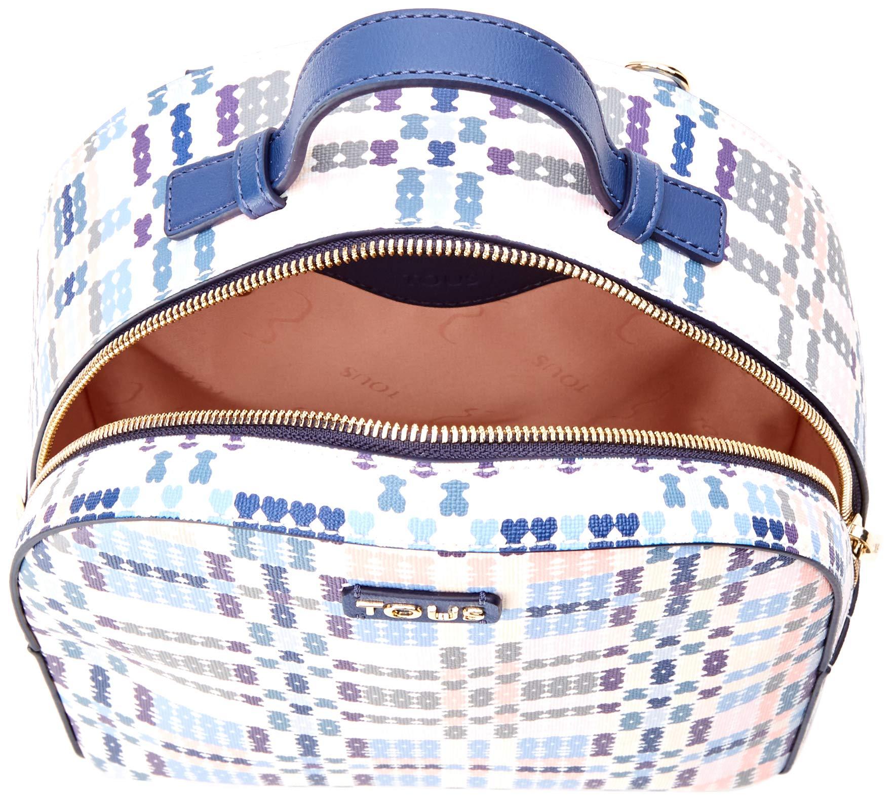 81aeBr QOXL - Tous 995800183, Bolso mochila para Mujer, Azul (Azul), 21x25x9 cm (W x H x L)