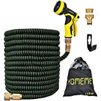 Garden Hose, Homeme 100 Feet Newest Expandable Strongest Magic Hose Pipe with Solid Brass Fittings & 9-pattern Spray…