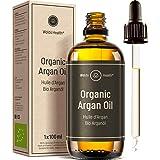 Olio di Argan puro 100% pressato a freddo biologico - Ricco di Vitamina E e Antiossidanti Adatto per Capelli, Corpo e Unghie,