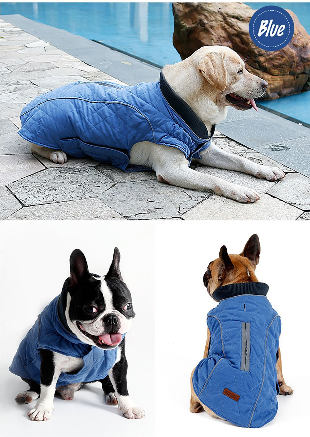 Cold Winter Dog Pet Coat Jacket Vest Warm Outfit Clothes for Small Medium Large Dogs 3