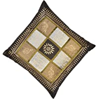 Dreams Traditionally Fashioned Cushion Cover in Artsilk Fabric in Ethnic Royal Milford Design, Size 12 inches X 12…