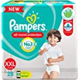 Pampers All round Protection Pants, Double Extra Large size baby diapers (XXL) 28 Count, Lotion with Aloe Vera