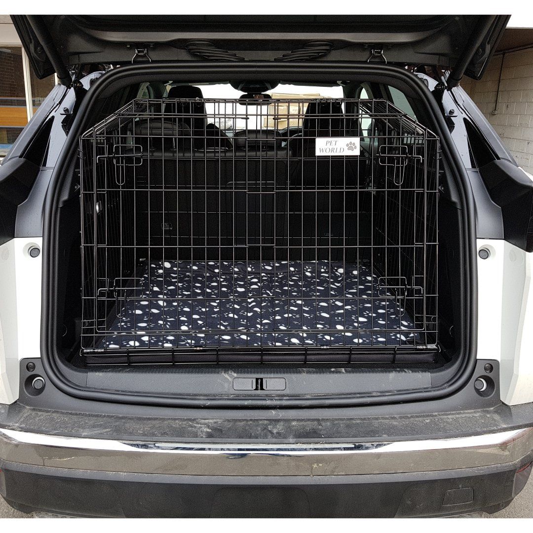 PET WORLD NEW PEUGEOT 3008 2016 SLOPING CAR DOG CAGE TRAVEL CRATE PUPPY