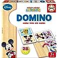 Educa Mickey & Friends Mickey y Minnie Domino de Madera, 28 Piezas, Multicolor (16037)