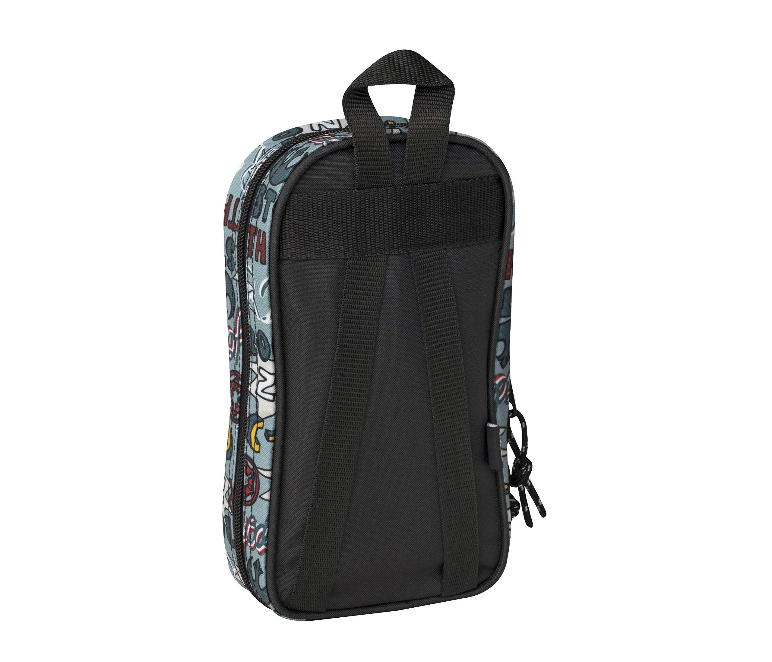 safta Star Wars Plumier mochila 4 estuches llenos, 33 piezas, escolar, Multicolor (411941747)