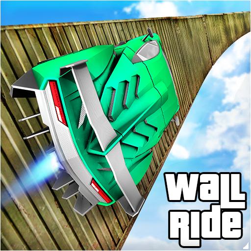 Longest Impossible Wall Ride GT Car Racing Stunts