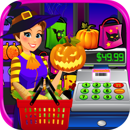 Halloween Mall (Supermarket Halloween Simulator - Kids Grocery Store & Cash Register Games)