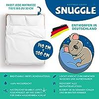 Snuggle - Protège-matelas 140 cm x 200 cm x 30 cm – Alèses respirantes 100 % – Surmatelas imperméable hypoallergénique…