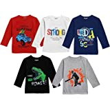 Kuchipoo Boys Cotton T-Shirt - Combo of 5, Multicolored (KUC-TSHRT-133)