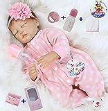 antboat 22inch 55cm Reborn Baby Dolls Girl Vinyl Soft Silicone Real Life Dolls Handmade Newborn Reborn Babies Boy and…