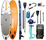 "AQUAPLANET 10ft 6"" x 15cm MAX Stand Up Paddle board kit. Air Pump With Pressure Gauge,Adjustable Aluminium Floating..."