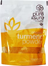 Pure & Sure Organic Powder, Turmeric, 100g