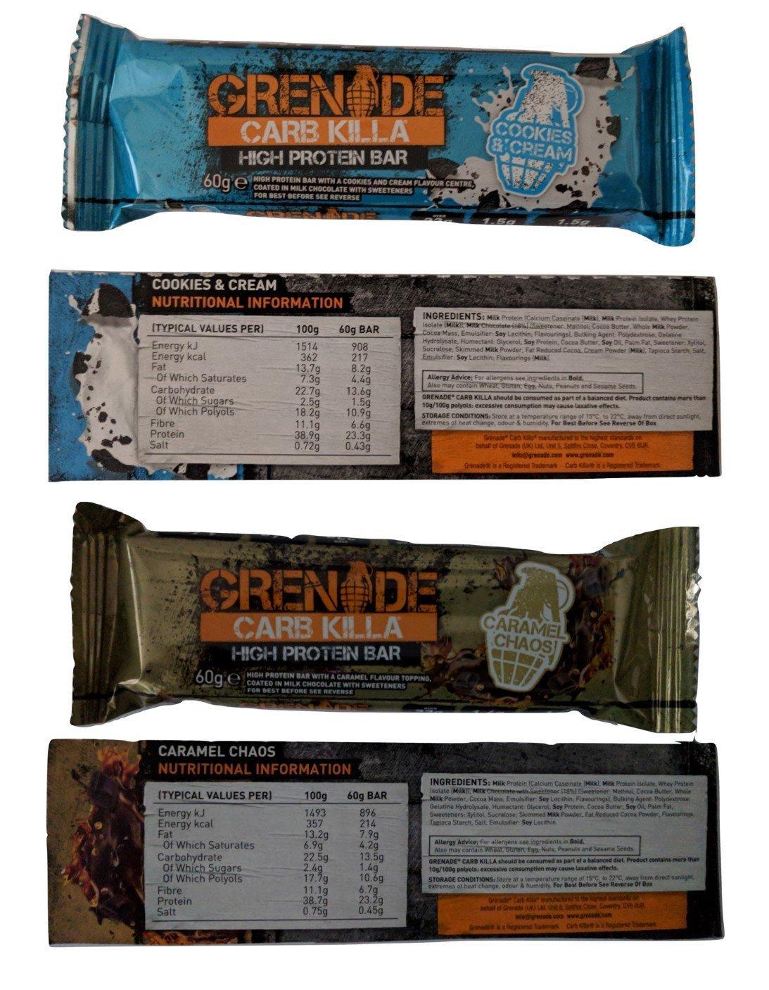 Grenade Carb Killa Protein Bars ALL 11 FLAVOURS 3