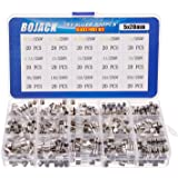 BOJACK 15 valörer 300 st snabbblåst glassäkringar sortiment kit 5 x 20 mm 250 V 0,2 0,2 0,25 0,5 1 1,5 2 3 4 5 8 10 12 15 20