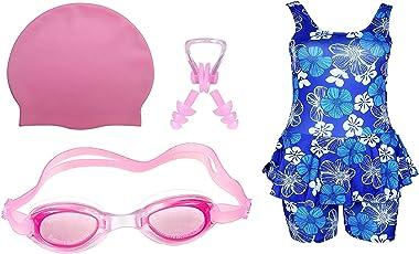 Goolden Girl Gilrs Swimming Kit (Pink_10-11 Years)