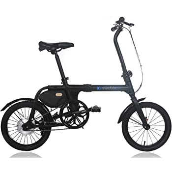 IC Electric Micro, Bicicleta Plegable, Unisex Adulto, Negro, Única
