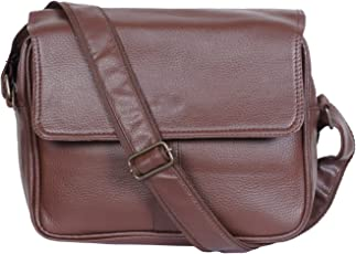 Dee Mannequin 2512 Leather Gym Bag (Brown)
