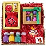 Diwali gifts for employees/Diwali chocolate gift pack/Diwali gift items-designer tray+Handmade Chocolate box+figurine showpie