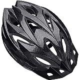 Shinmax Casco de Bicicleta Certificado CE Casco de Bicicleta para Hombre con Visera Desmontable Casco de Ciclismo Ligero Prot
