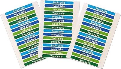 50 Klebende Mini-Etiketten für Bleistifte und Kugelschreiber Maße: 4,2 x 0,5 cm. Kelle 5