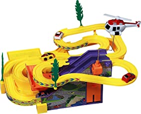 Sajani Track Racer Toy Game Car Racing Ramp Set Battery Operated Musical Kids Games