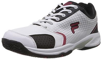 fila men s tennis shoes. fila men\u0027s turf white, red and black tennis shoes -8 uk/india ( men s