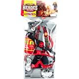 Vibgyor Vibes Fireman Fire Fighter Set with Toy Figure (Multicolor)