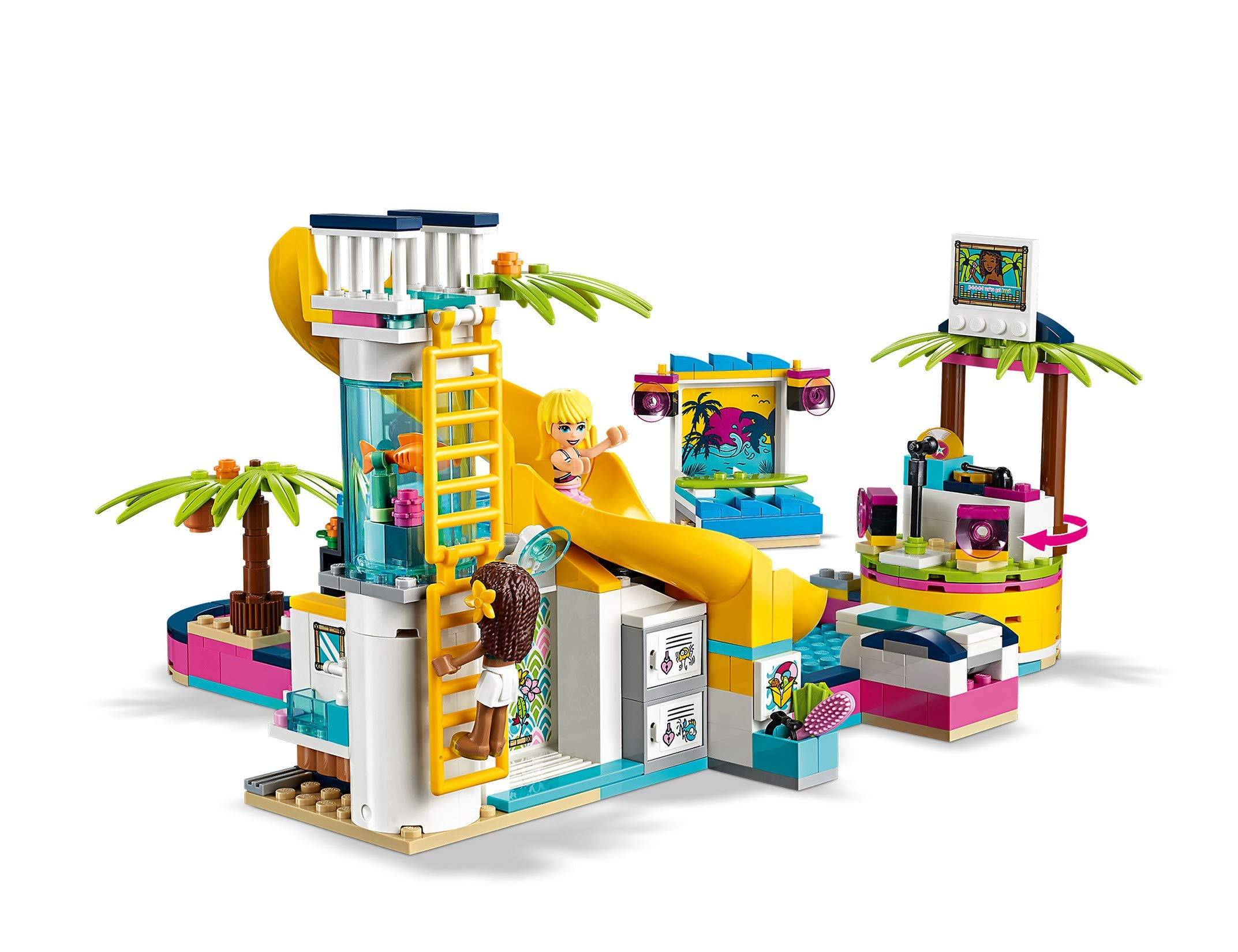 LEGO - Friends La festa in piscina con le Mini-Doll Andrea e Stephanie, DJ Box, Acquario e Pesce, Idea Regalo, 41374 4 spesavip