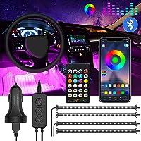 Jinhuaxin 72 LED Striscia LED Auto, Striscia Lampadine Led Auto Interni, 16 Colori RGB Multicolore Auto Luci Interne Kit…