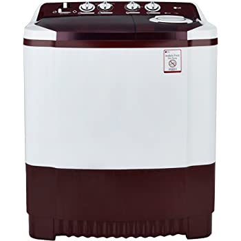 LG 7.5 kg Semi-Automatic Top Loading Washing Machine (P8541R3SA, Burgundy)