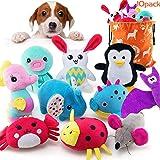 AWOOF 10 PCS Juguete para Perro Cute Juguetes Cachorro Juguetes Chirriantes para Perros Pequeños, Juguetes de Peluche para Pe