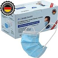 Charlemain 50x OP-Maske, MADE IN GERMANY, EN 14683 Typ IIR, CE-zertifiziert, medizinischer Mund-Nasen-Schutz, BFE > 99…