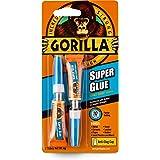 Gorilla Super Glue, Two 3 Gram Tubes, Clear