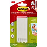 Command 17207 Narrow Picture Hanging Strips, 4 pairs - White