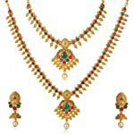 Shining Diva Fashion Latest 18k Gold Plated Design Necklace Set for Women Traditional Jewellery Set for Women