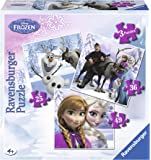 Ravensburger 07276 - Disney Prinzessinnen: Anna, Elsa & ihre Freunde - 25 + 36 + 49 Teile Kinderpuzzle