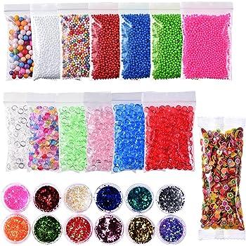 Kuuqa Micro Polystyrene Styrofoam Beads Small Foam Balls Slime Set with 3...