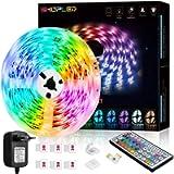 Striscia LED 6M, SHOPLED RGB SMD 5050 Kit per Cambio Colore Luci con Telecomando a 44 Tasti e Alimentatore, per Camera…