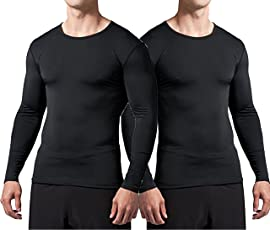 Bloomun Full Sleeve Compression / Inner Tops - Black Pack of 2