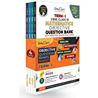 Educart TERM 1 MCQ Question Bank Class 10 Bundle 2022 - Maths, Science, English & SST Books (Based on New MCQs Type…