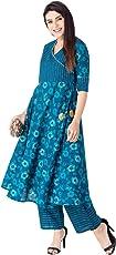 KHUSHAL Women's Cotton Salwar Suit Set