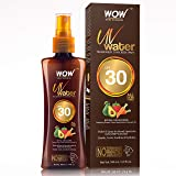 WOW Skin Science UV Water Transparent Sunscreen Spray SPF 30 - Quick Absorbing - Oil Free - with Raspberry Extract, Carrot Se