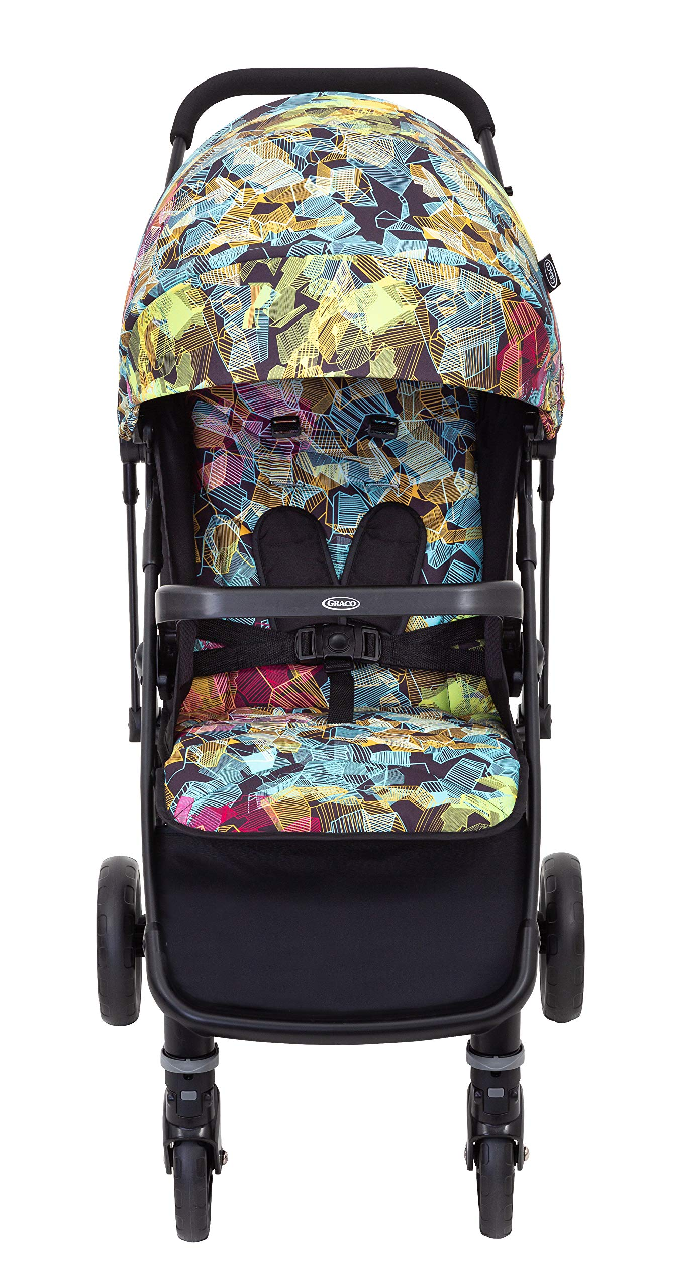 Graco Breaze Lite Stroller, Kaleidoscope Graco From birth to 3 years approx. (0-15kg) Lightweight at only 6.5kg Click connect travel system compatible with graco snugride/snugessentials isize infant car seats 1
