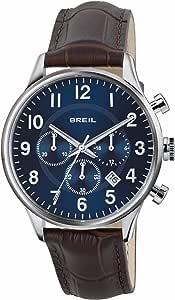 BREIL - Contempo Men's Chronograph Watch, Chrono Quartz Movement and Leather Strap