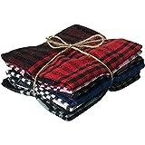 Pixel Home Cotton Kitchen Cleaning Towel (Set of 5 Pcs, Multicolour)