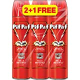 PIF PAF Mosquito and Flying Insect Killer, 3 x 400ml, Pack of 3, red, CM02503