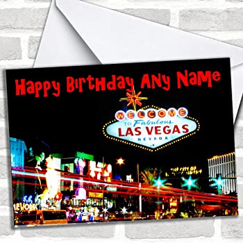 Las vegas america personalised birthday card amazon office las vegas america customised birthday greetings card birthday cards countries places cards m4hsunfo