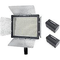Yongnuo YN-600L II YN600L II Lumière Pro Vidéo LED 5500K pour Canon Nikon DSLR caméra DV et caméscope avec 2PCS WINGONEER NP-F770 Batterie et chargeur de batterie
