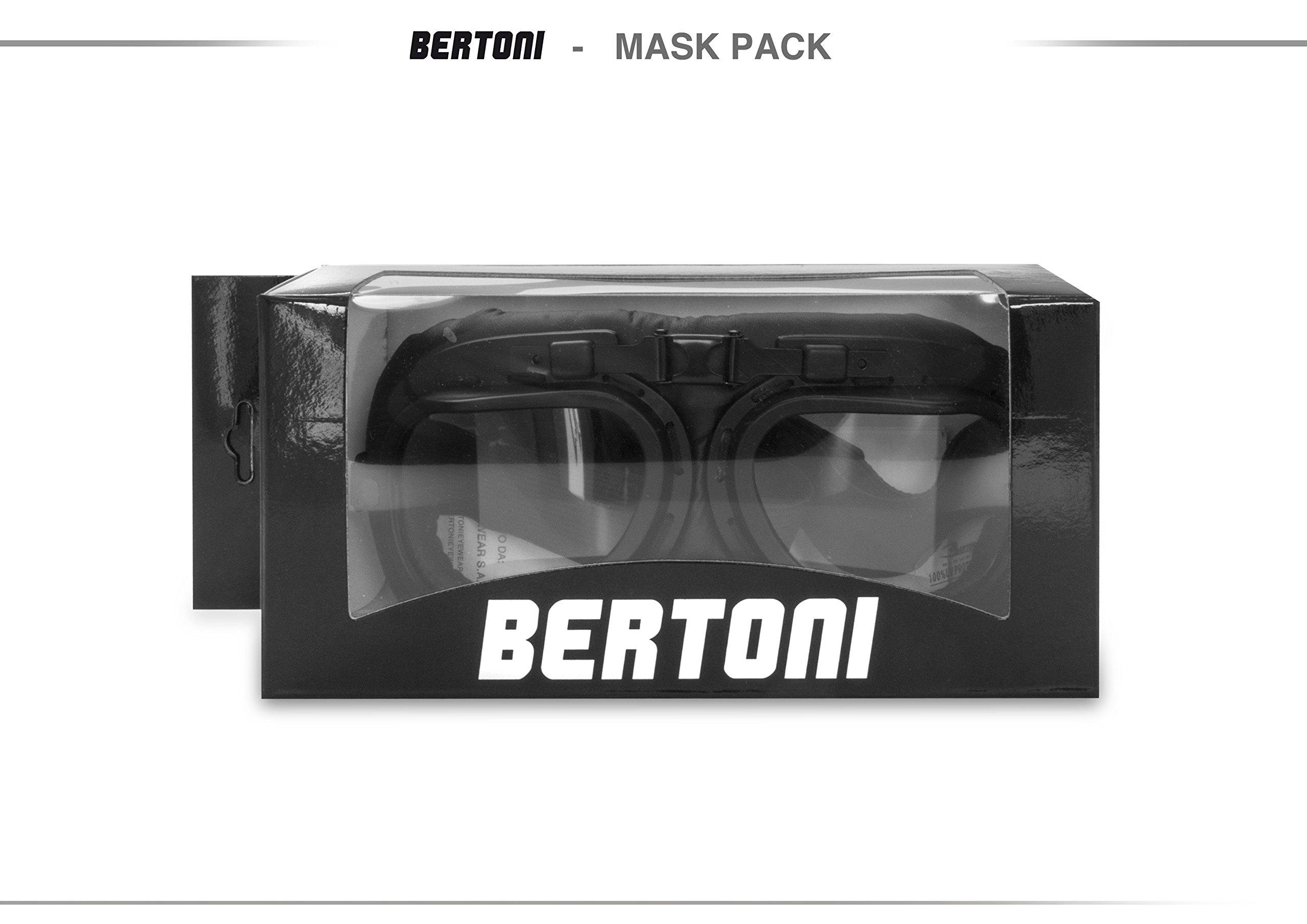 Masque moto vintage Bertoni Noir 7