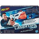 Nerf Laser Ops AlphaPoint, LaserTag-Blaster mit Licht- & Soundeffekt, Kinder-Spielzeug, inkl. Schnell-Lade-Taste für Infrarot-Schüsse, auch für Erwachsene